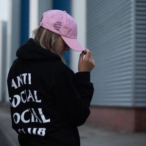 Anti Social Social Club Accessories - Anti Social Social Club Weird Cap in Pink