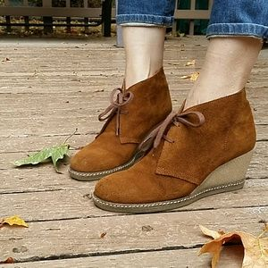 JCrew Suede McAlister Wedge Boots
