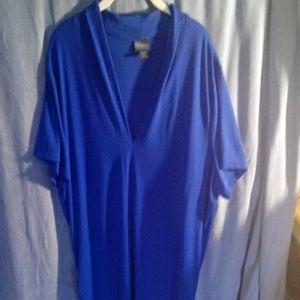 Covington  Tops - Excellent 3X plus womens royal blue blouse