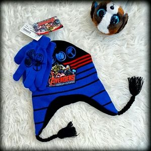 Marvel Other - 🚨6/$19🎯 🚨 NWT Avengers Hat Cap Gloves Set Boys