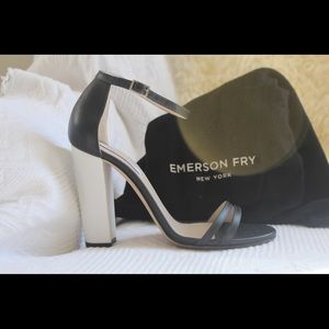 Emerson Fry Shoes - Emerson Fry Black and White Strappy Heels