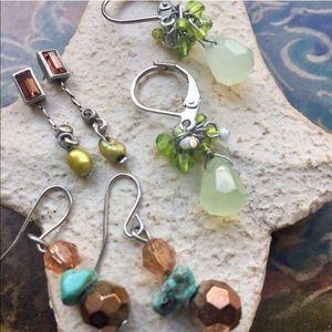 Jewelry - Bundle of Six pair of gently worn earrings.