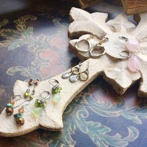Jewelry - Six pair of gently worn earrings.