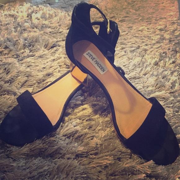 Steve Madden Irenee G black suede sandals