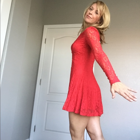 38% off H&M Dresses & Skirts - Red lace form fitting dress. from ...