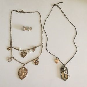 Two necklaces and earrings bundle!