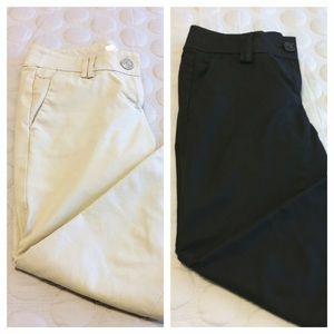 LOFT Pants - LOFT *BUNDLE OF 2* cropped pants