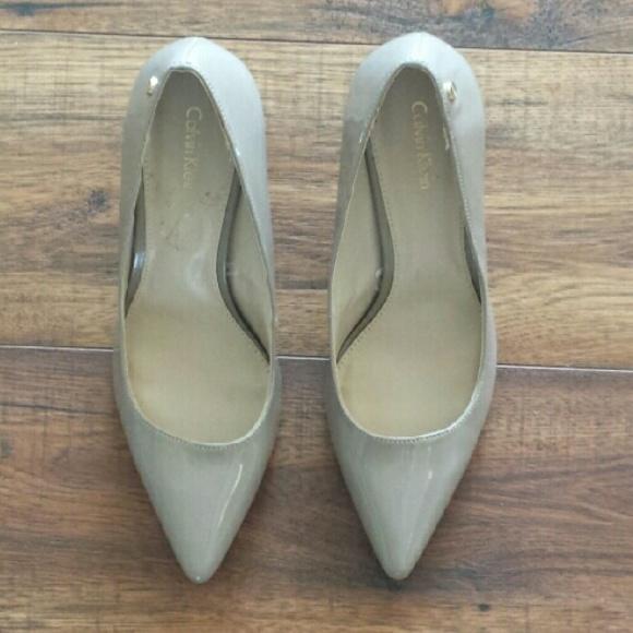 Calvin Klein Shoes - Calvin Klein Taupe Heels