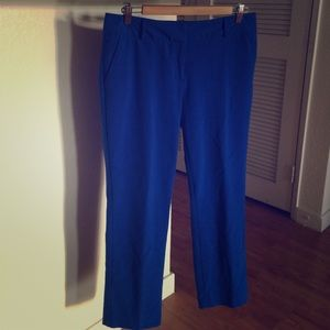 New York & Company Blue Cropped Dress Pants Size 8