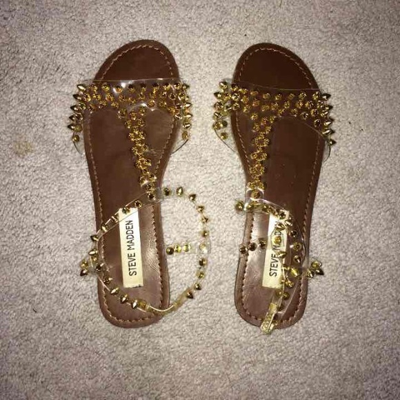 pubertad sexual combinar  Steve Madden Shoes | Steve Madden Nickiee Studded Clear Sandals | Poshmark