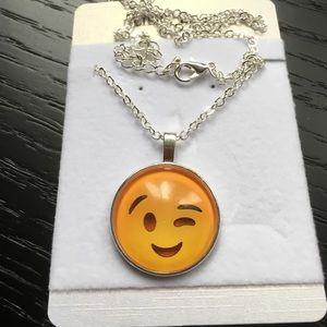 Jewelry - Cute Emoji Pattern Necklace.