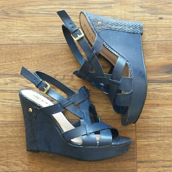 Guess Shoes - Guess Navy Wedges