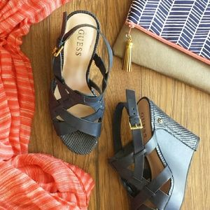 Guess Navy Wedges
