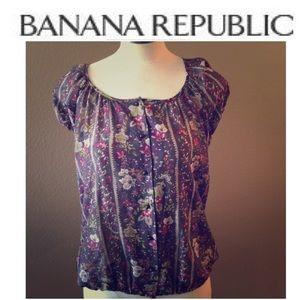 EUC Banana Republic Silk top