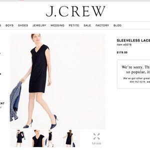 J Crew Lace shift dress Black & Navy Sz 6 NWT