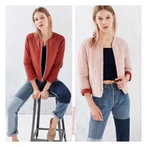 Urban Outfitters Wave Quilted Reversible Jacket