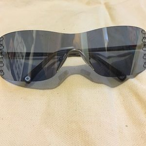 Blue Mirrored Coach Sunglasses
