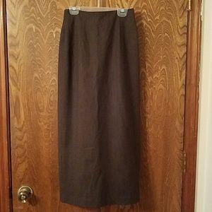 Valerie Stevens Dresses & Skirts - Valerie Stevens brown pencil skirt