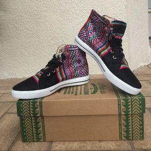 Inkkas Shoes - NWT- Black/Patterned Hightop Sneakers