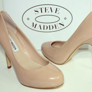 Nude pumps, by Steve Madden