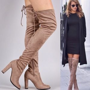 Shoes - BEST Classic Neutral Over-the-Knee Boots Leoninus