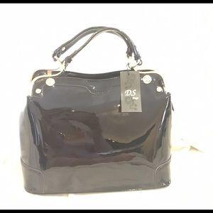 Patent leather black bag