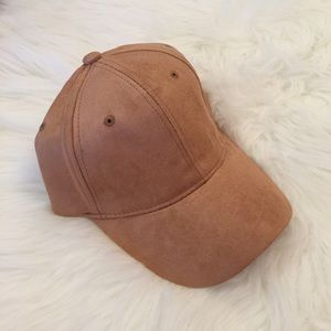 Accessories - Tan Suede Baseball Cap