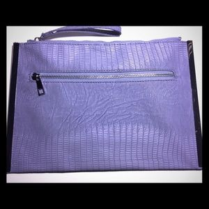 Purple Embossed Clutch/Make Up Bag