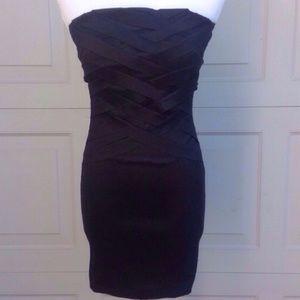 Wet Seal Dresses & Skirts - Wet Seal Black Bodycon Bandage Dress - S (Juniors)