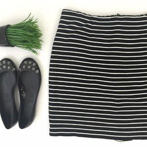 Dalia Collection Dresses & Skirts - Black & White Striped Skirt
