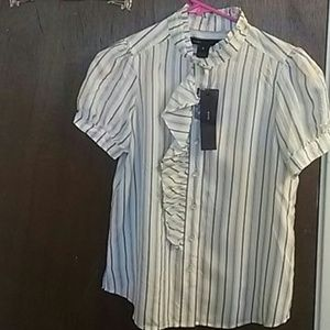 Marc Jacobs Tops - Bnwt Marc Jacobs short sleeve striped silk blouse