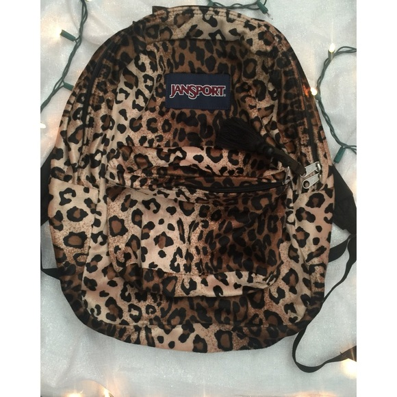 ec65f1ca82da Jansport Handbags - JanSport Leopard Print Backpack