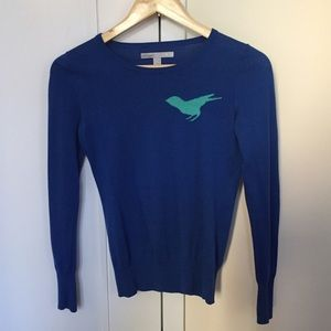 Blue cotton lightweight sweater, XS