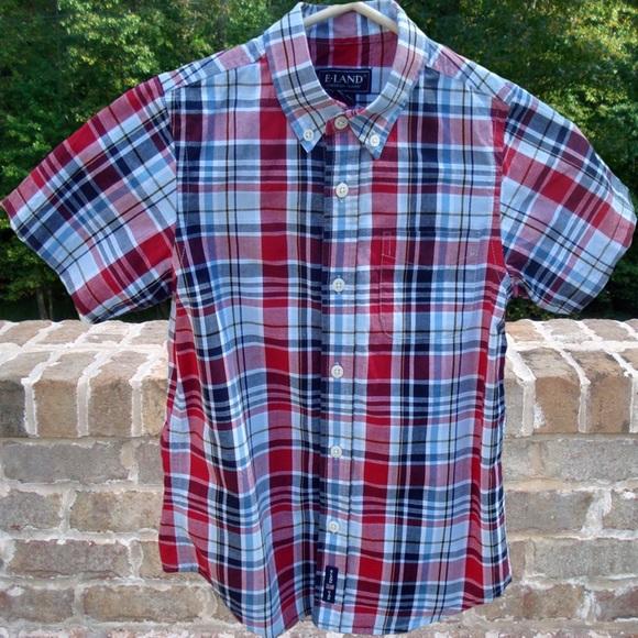 628fa0a21ccd0 Plaid Short Sleeve Button Down Dress Shirt