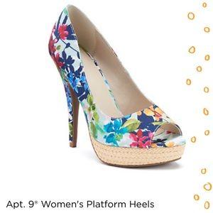 Apt. 9 Shoes - *NWOT* Floral Platform Heels from Apt 9