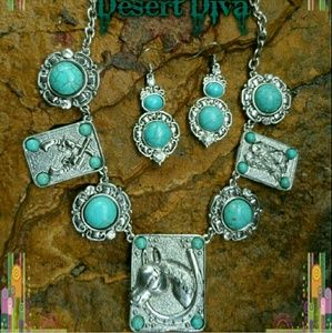 ‼️CLEARANCE‼️Western Turquoise Necklace