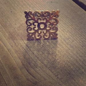 Gold vermeil statement ring