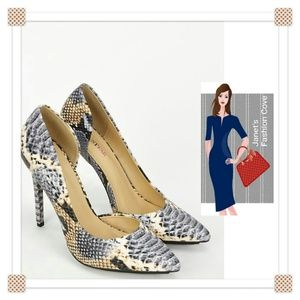Shoes - Brand New Snake Skin Look Heels