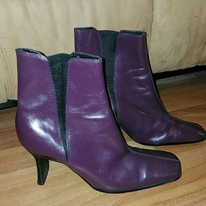 Shoes - Genuine leather purple booties