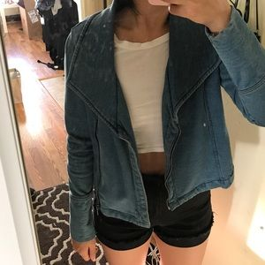 GAP Jackets & Blazers - Gap faux denim biker moto jacket