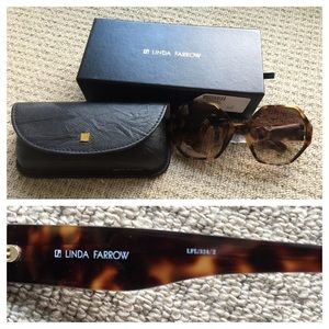 2210e80c84 Linda Farrow Accessories - Linda Farrow Hexagon Oversized Tortoise  Sunglasses