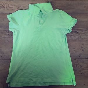 J. Crew Tops - JCrew green polo good condition no flaws
