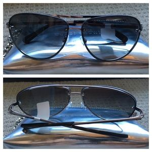 Bobbi Brown Accessories - Bobbi Brown Jackson Ruthenium Silver Gray Aviator