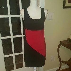LOFT black and red professional dress XS
