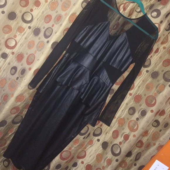 Goodtime Usa Dresses Plus Size Faux Leather Peplum Dress Poshmark