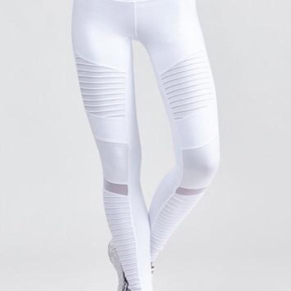 Alo White Leggings