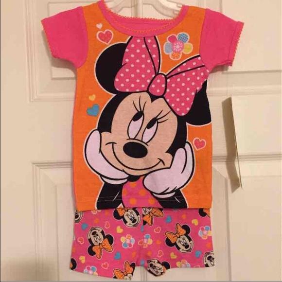 Disney Pajamas | Nwt Baby Minnie Mouse Pjs 12 Months | Poshmark