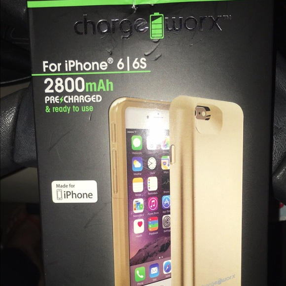 size 40 90cd6 7ccc5 Charge Worx slim battery case - iPhone 6 or 6s NWT