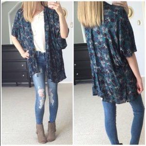 Tops - Jade Floral Kimono Cardigan