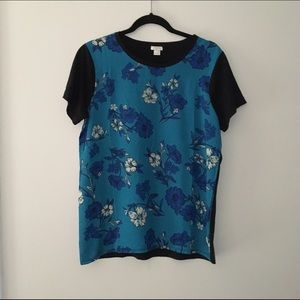 J. Crew Factory Floral Front Printed Top